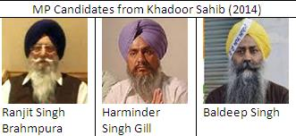 MP candidates from Khadoor Sahib